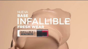 L'Oreal Paris Infallible Fresh Wear Foundation TV Spot, 'No te pesará' canción de Queen [Spanish] - Thumbnail 2