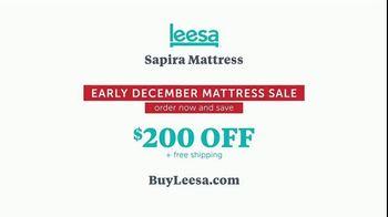 Leesa Early December Mattress Sale TV Spot, 'Sapira Mattress' - Thumbnail 10