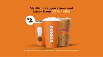 Dunkin' Donuts $2 Medium Cappuccinos and Lattes TV Spot, 'Work Hard' Featuring Saquon Barkley - Thumbnail 8