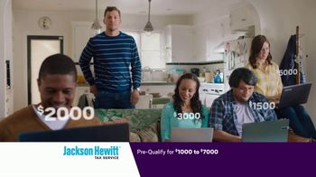 Jackson Hewitt Tax Service Go Big Refund Advance TV Spot, \'ERA Pre-Qual $7K B\'