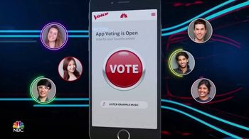 The Voice Official App TV Spot, 'Vote for Your Favorite Artists' - 1 commercial airings