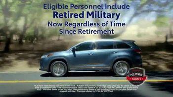 Toyota Military Rebate TV Spot, 'Retired Military' [T2] - Thumbnail 7