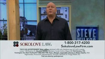 Sokolove Law TV Spot, 'Injured at Birth' Featuring Steve Wilkos - Thumbnail 1