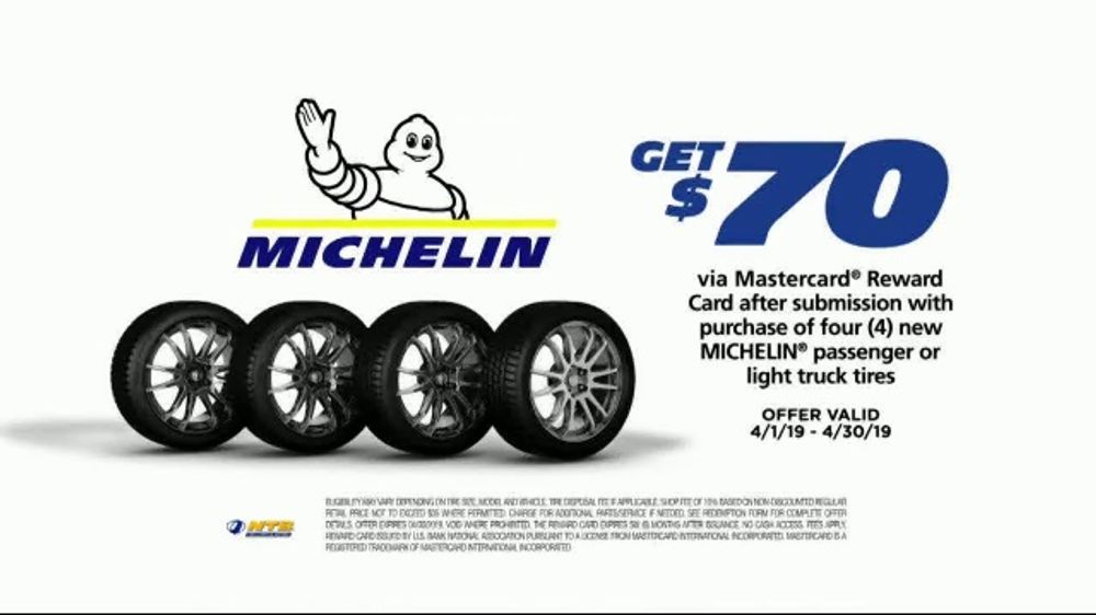 National Tire & Battery Big Brands Bonus Month TV Commercial, 'Michelin Reward Card & Mobile Install