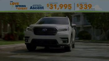 Subaru Love Spring Event TV Spot, 'Great Deal: 2019 Ascent' [T2] - Thumbnail 1