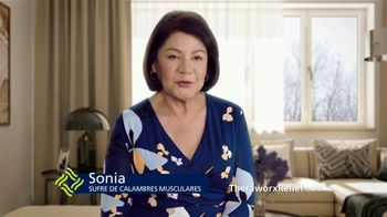 Theraworx Relief TV Spot, 'Sonia: calambres musculares' [Spanish]