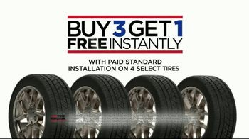 Tire Kingdom TV Spot, 'Bald: Buy Three, Get One Free, Mail-In Rebate and No Interest' - Thumbnail 7