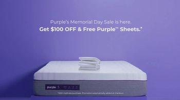 Purple Mattress Memorial Day Sale TV Spot, 'H.E.D. Test: $100 Off & Free Sheets' - Thumbnail 9