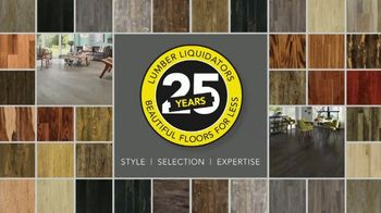 Lumber Liquidators TV Spot, 'Celebrate 25 Years' - Thumbnail 1