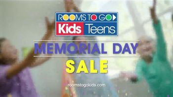 Rooms to Go Kids & Teens Memorial Day Sale TV Spot, 'Kids Furniture'