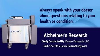 Renew Research TV Spot, 'Alzheimer's Disease' - Thumbnail 4