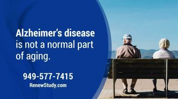 Renew Research TV Spot, 'Alzheimer's Disease' - Thumbnail 1