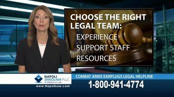 Napoli Shkolnik PLLC TV Spot, 'Combat Earplugs' - Thumbnail 8