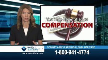 Napoli Shkolnik PLLC TV Spot, 'Combat Earplugs'