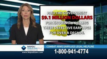 Napoli Shkolnik PLLC TV Spot, 'Combat Earplugs' - Thumbnail 4