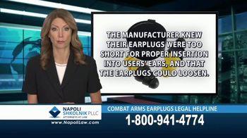Napoli Shkolnik PLLC TV Spot, 'Combat Earplugs' - Thumbnail 5