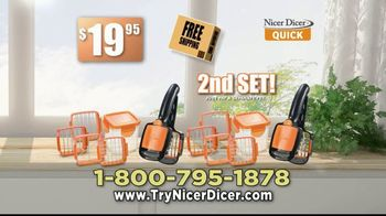 Nicer Dicer Quick TV Spot, 'Speed Slicer' - Thumbnail 10