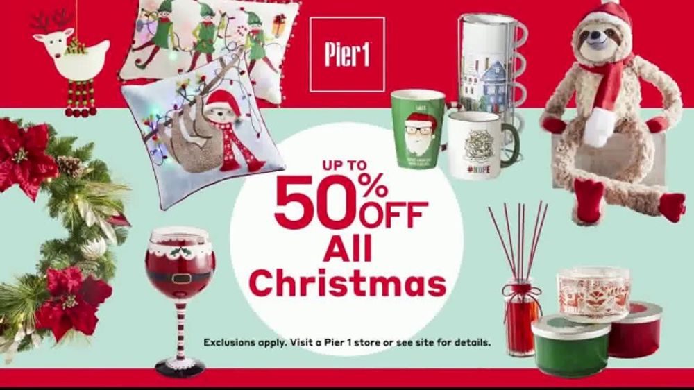 Pier One Christmas.Pier 1 Imports Early Christmas Clearance Tv Commercial Everything Christmas Video