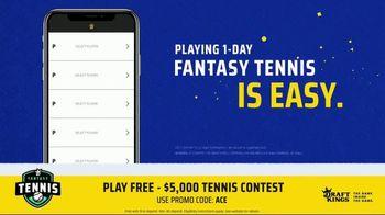 DraftKings TV Spot, '2019 Fantasy Tennis Contest' - Thumbnail 6