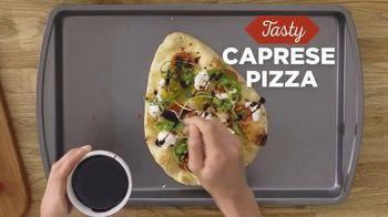 Stonefire Naan Original TV Spot, 'Practical Pantry: Mediterranean Dip & Caprese Pizza' - Thumbnail 9