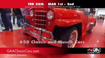 GAA Classic Cars TV Spot, '650 Classic and Muscle Cars' - Thumbnail 3