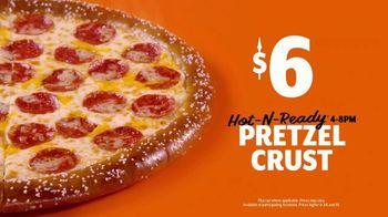 Little Caesars Soft Pretzel Crust Pizza TV Spot, 'Breathe, Baby' - Thumbnail 9