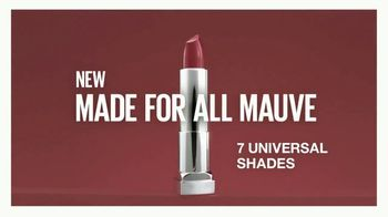 Maybelline New York Color Sensational Made for All Lipstick TV Spot, 'Sensational on All' - Thumbnail 10