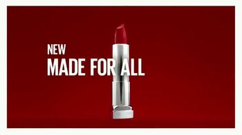 Maybelline New York Color Sensational Made for All Lipstick TV Spot, 'Sensational on All' - Thumbnail 9