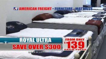 American Freight Savings by the Truckload TV Spot, 'Mattress Sets: Royal Ultra' - Thumbnail 6