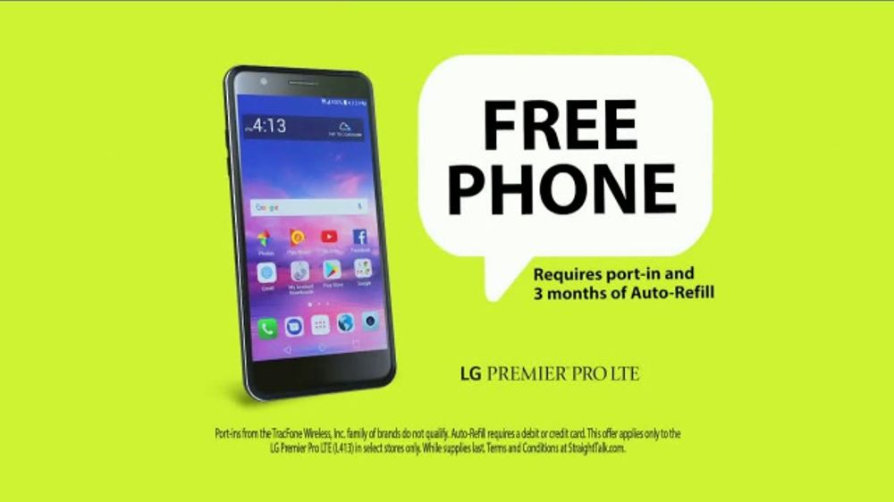 Straight Talk Wireless TV Commercial, 'Free LG Phone: No Contract' - Video
