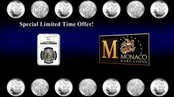 Monaco Rare Coins TV Spot, 'Morgan Silver Dollar Special Offer' - Thumbnail 1