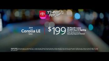 2019 Toyota Corolla TV Spot, 'Thrill Ride: All Offers' [T2] - Thumbnail 7