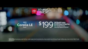 2019 Toyota Corolla TV Spot, 'Thrill Ride: All Offers' [T2] - Thumbnail 8