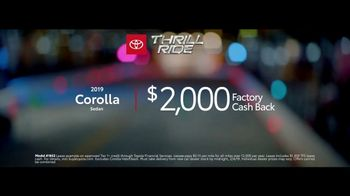 2019 Toyota Corolla TV Spot, 'Thrill Ride: All Offers' [T2] - Thumbnail 9