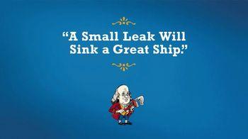 Benjamin Franklin Plumbing TV Spot, 'Sink a Great Ship: Plumbing Repair'