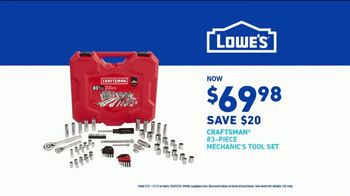 Lowe's TV Spot, 'An Investment: Mechanic Tool Set' - Thumbnail 7