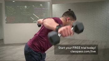 ClassPass Live TV Spot, 'Ready at Home: Free Month Trial'