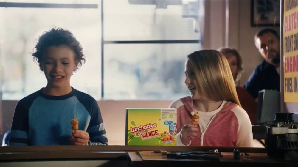 lunchables juice tv commercial mixed oil change ispottv