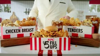 KFC $5 Fill Ups  TV Spot, '100 Percent White Meat Chicken'