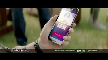 GreatCall Jitterbug Smart2 Heart Health Month TV Spot, 'A Simple Smartphone for Seniors to Use: 25 Percent Off' - Thumbnail 8