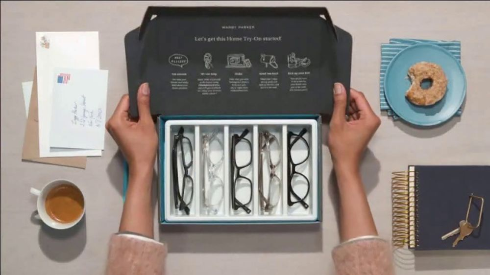 Warby Parker TV Commercial, 'Home Try-On'
