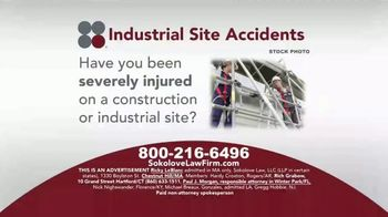 Sokolove Law TV Spot, 'Industrial Site Accidents'