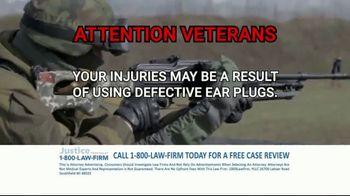 1-800-LAW-FIRM TV Spot, 'Military Hearing Loss' - Thumbnail 9