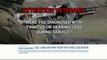 1-800-LAW-FIRM TV Spot, 'Military Hearing Loss'