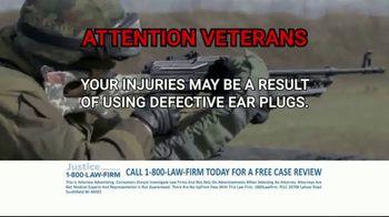 1-800-LAW-FIRM TV Spot, 'Military Hearing Loss' - Thumbnail 8