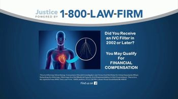 1-800-LAW-FIRM TV Spot, 'IVC Filter Implant Warning' - Thumbnail 1