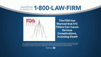 1-800-LAW-FIRM TV Spot, 'IVC Filter Implant Warning' - Thumbnail 2
