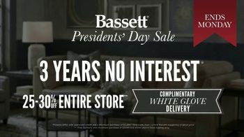 Bassett Presidents Day Sale TV Spot, 'No Interest and White Glove Delivery' - Thumbnail 6