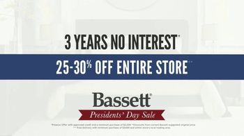 Bassett Presidents Day Sale TV Spot, 'No Interest and White Glove Delivery' - Thumbnail 3