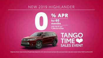 Toyota Tango Time Sales Event TV Spot, 'Swing In: Camry and Highlander' [T2] - Thumbnail 5